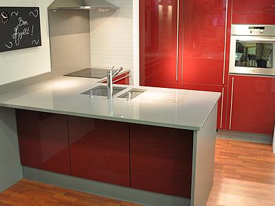 Plan de travail pour cuisine ou salle de bains en quartz for Plan de travail cuisine quartz blanc